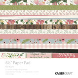 KaiserCraft* Scrapbooking-Block *Full Bloom* 16,5 x 16,5 cm