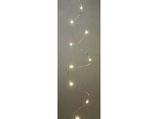 Lichterkette LED Silberdraht 20 Lichter gold  mit Timer-Funktion