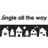 Labels zum Eingießen *Jingle all the way + Weihnachtsdorf*