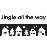 Labels zum Eingießen *Jingle all the way + Weihnachtsdorf*