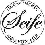 Label zum Eingießen *Handgemachte Seife - 100% von mir*