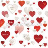 Designpapier *gemusterte Herzen*