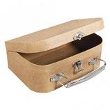 Pappmaché Koffer mit Metall-Griff in 3 Größen