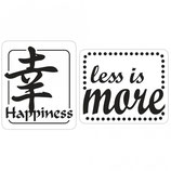 Label-Set zum Eingießen *Happiness und less is more*