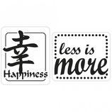 Label-Set zum Eingießen *Happiness und less is more*