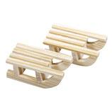Holz Schlitten mit Aufhänger!
