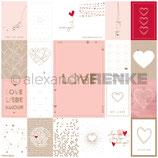 Designpapier *Kärtchenbogen Liebe*