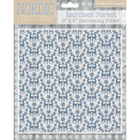 Embossing Folder / Prägefolder *Nordic Christm. Folder-Reindeer Forest*