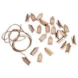 Holz Klammern mit Haus *Adventskalender-Zahlen* 1 - 24