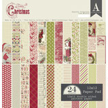 Authentique Scrapbooking Block sortiert *Classic Christmas* 30,5 x 30,5 cm oder 15,2 x 15,2 cm