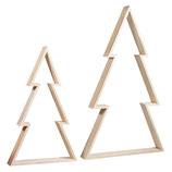 Holz-Rahmen, Weihnachtsbaum, 2 Stück