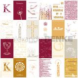Designpapier *Kärtchenbogen Konfirmation/ Kommunion rot*