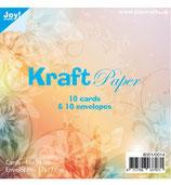 Kraftpapier**Set*10 Karten / 10 Umschläge