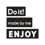 Label-Set zum Eingießen *Do it!, made by me und ENJOY*