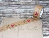 Paketklebeband in kraft braun *Mit Liebe verpackt* Eigendesign von SuSu (Papierstücke)