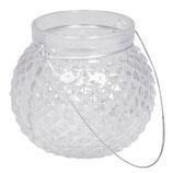 Glas-Laterne mit Henkel