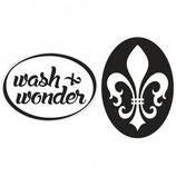 Label-Set zum Eingießen *wash&wonder und Lilie*