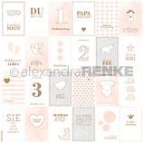 Designpapier *Kärtchenbogen pink Mädchen*