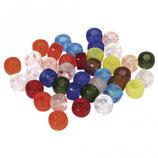 Glas-Großlochradl gemischte Farben