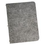 Notizbuch mit Filzcover * geeignet zum Bestempeln oder Beplotten