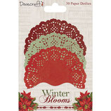 Paper Doilies / Zierdeckchen *Winter Blooms*!
