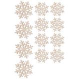 Holz-Streuteile *Schneeflocken*