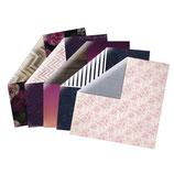 Materialkit**Heidi Swapp*Scrapbooking-Papier Serie *Hawthorne* 5 verschiedene Bögen