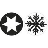 Labels zum Eingießen *Schneeflocke + Stern*