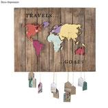 Holz-Weltkarte