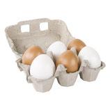 Set Plastik-Eier in braun/weiß