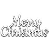 Stanzschablone Schriftzug *Merry Christmas*