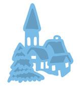 Stanzschablone *Verschneites Dorf*