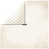 Scrapbookingpapier Chevron *Bo Bunny*30,5x30,5cm, 190g/m2