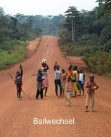 Ballwechsel In Afrika