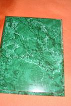 Plakette grün marmoriert