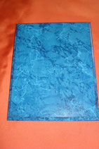Plakette blau marmoriert