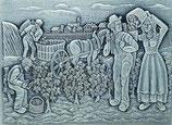Zinn-Reliefplatten Landwirtschaft
