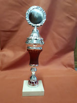 Pokal silber-rot S13465