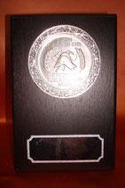 Melaminplakette für 5 cm-Emblem