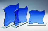 Glastrophäe, blau, Art.Nr.66907-66909