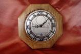 Holz-Uhr 8-eckig