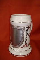 Porzellan-Bierseidel für Wappen