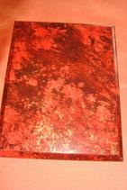Plakette rot marmoriert