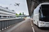 Transfer mit dem Bus vom Flughafen Rom zum Hauptbahnhof und retour