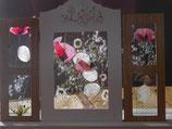 triptyque bois et verre fleurs séchées glanées