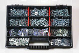 Sortiment Blechschrauben / Blechmuttern, verzinkt, 275 Teile