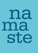 Postkarte Namaste