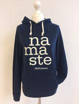 """Kapuzenpulli Hoodie """"NAMASTE"""", Organic Cotton BLAU UNISEX"""