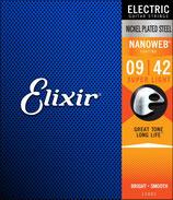Elixir 9-42 12002 Nanoweb Nickel Plated Steel