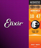 Elixir 10-47 16002 Nanoweb Phosphor Bronze